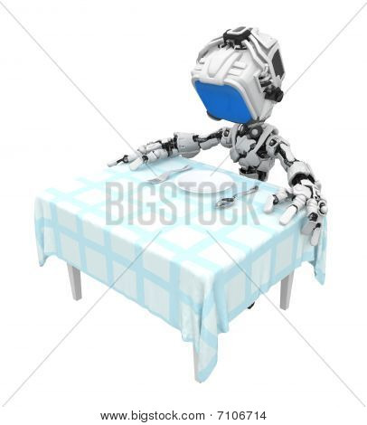 Blue Screen Robot, Breakfast