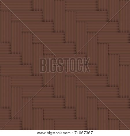 Vector Seamless Parquet Floor Retro Pattern - Simple Square Graphic Background