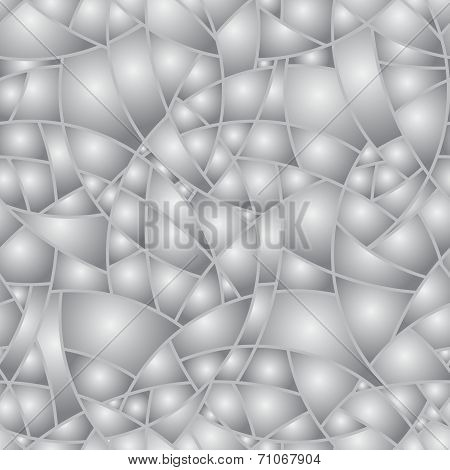 Vector Seamless Pattern - Abstract Volume Chaotical Monochrome Original Background