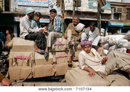 Indian Labourer's Break