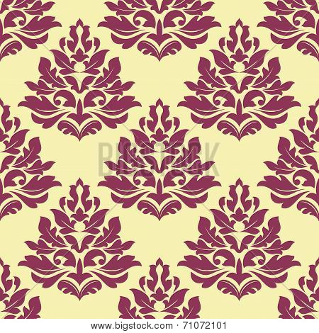 Retro maroon, crimson or dark red seamless pattern