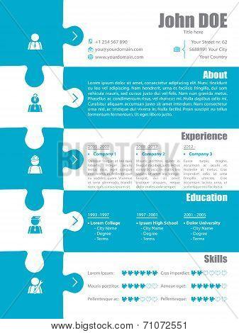Puzzle Resume Design