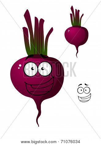 Cartoon beetroot vegetable character