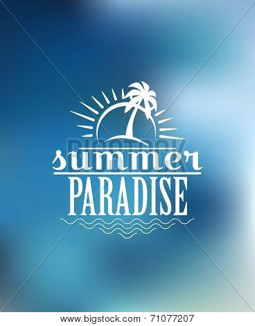 Summer Paradise poster design