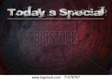 Today`s Special Concept