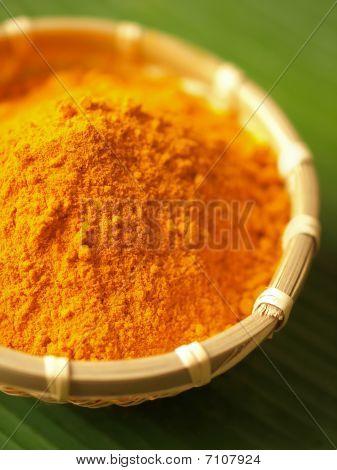 Tumeric Powder In Basket