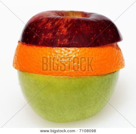 Orange apple sandwich