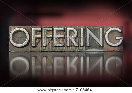 Offering Letterpress