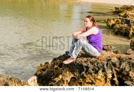 Young Woman On tropical coast