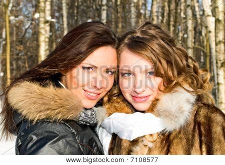 Portrait Of Beautiful Girls