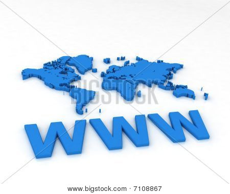 3d Map with text