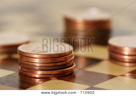 Picture or Photo of Financial planning using a chess board