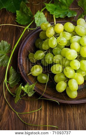 Green Grapes Close-up