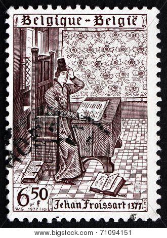 Postage Stamp Belgium 1977 Jehan Froissart
