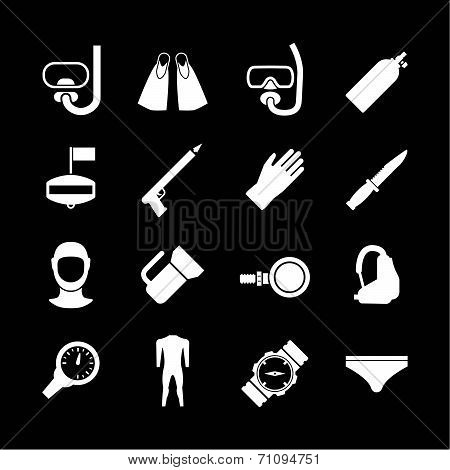 Set Icons Of Diving