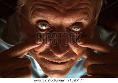 Scary Senior Man Eyes