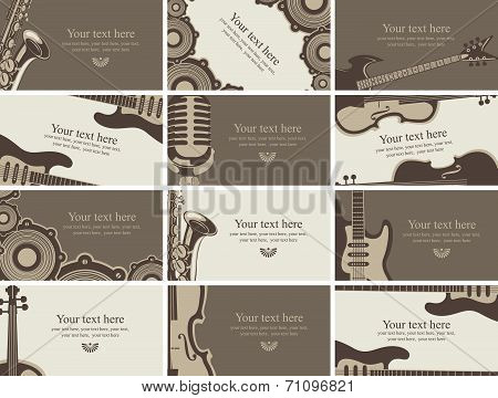 Business card music