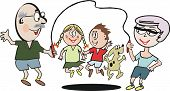 Постер, плакат: Мультфильм семьи упражнения