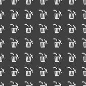 image of dust-bin  - Trash bin web icon - JPG