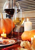 image of thanksgiving  - Autumn place setting - JPG