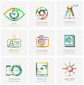 stock photo of flashing  - Vector collection of 9 company logos - JPG