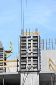 pic of formwork  - Concrete formwork and floor beams on construction site - JPG