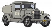 stock photo of tank truck  - Hand drawing of a vintage military tank truck  - JPG