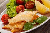 stock photo of halibut  - Fish dish  - JPG