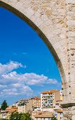 pic of aqueduct  - Los Arcos Aqueduct in Teruel Old Town Aragon Spain - JPG