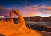 pic of arch  - Delicate Arch Late Afternoon View Arches National Park Utah - JPG