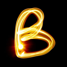 picture of cursive  - B  - JPG