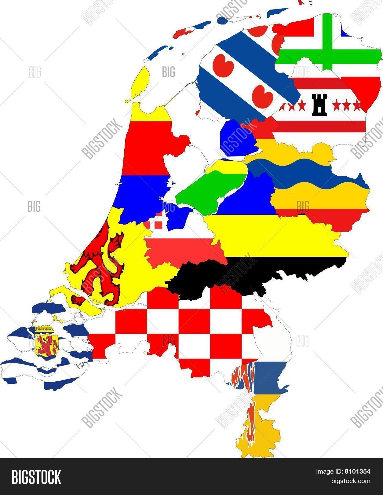 Netherlands Map Provinces Collage Image  Photo  Bigstock