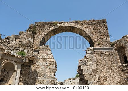 Ancient Vespasian Gate in Side Turkey
