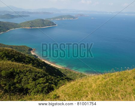 beach and mountain landscape in Sai Kung, Hong Kong