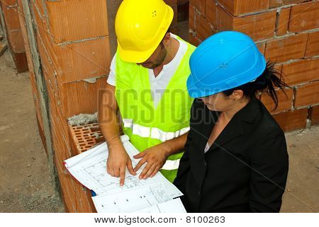 Architects With Project On Site
