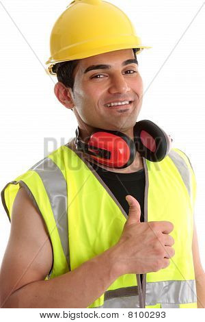 Smiling Builder Thumbs Up