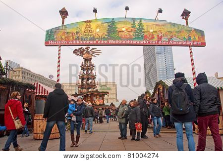 Berlin, Germany - December 7, 2014: Alexanderplatz Is Visited Daily By Over 300 000 People. On 7 Dec