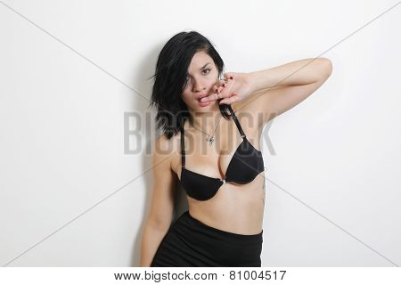Sexy Girl Isolated On A White Background