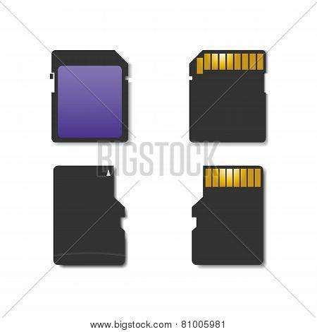 Set Memory Card, Vector Illustration.