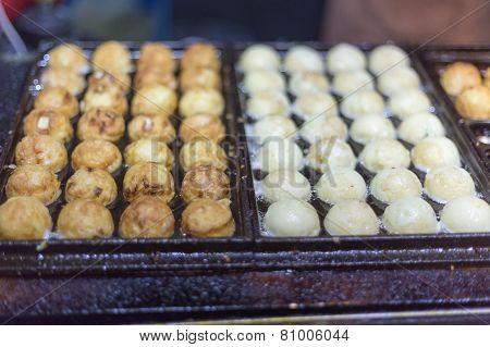 Takoyaki At A Night Market