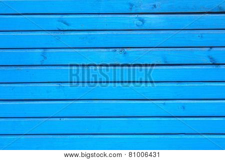 Blue Horizontal Planks