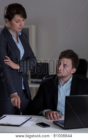 Manager Talking With His Employee