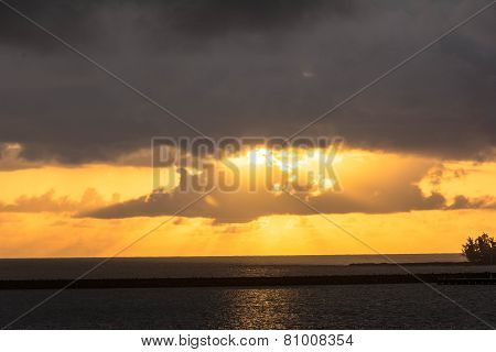 Sunrise in Hilo, Big Island