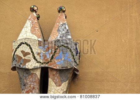 BARCELONA, SPAIN - September 14:  Interior of Gaudi's creation house Casa Batlo. Casa Batllo was built in 1877 by Antoni Gaudi  on September 14, 2014 Barcelona, Spain