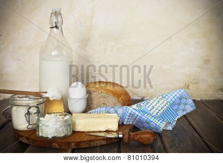 Fresh Bread And Dairy Products