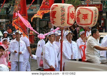 Women at Chinese new year, Thailand.