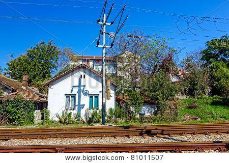 Railway Beside Settlement.