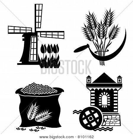 Mühle-Ikonen