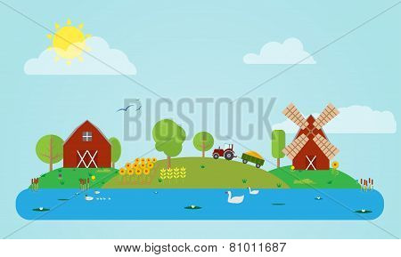 Flat Countryside