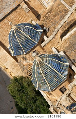 Valencia Cathedral Aerial View